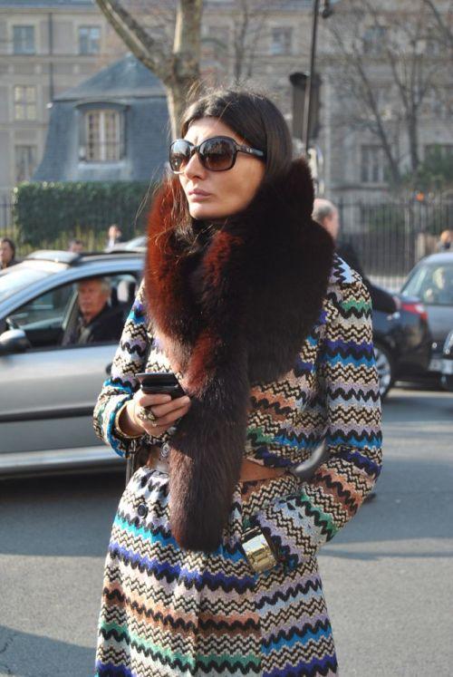 0002_Giovanna_Battaglia_Striped_Vintage_Missoni_Coat_Fur_Collar