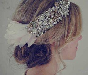 Ślubne akcesoria do włosów w styluretro