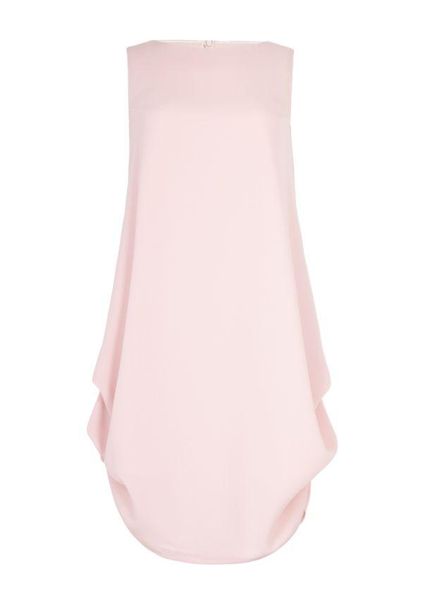 BOHOBOCO - Różowa sukienka z zakładkami po bokach - 1420 zł (2)