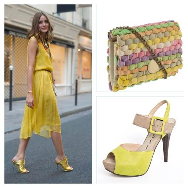Olivia Palermo w sukience Topshop, torebka Parfois, buty Nessi