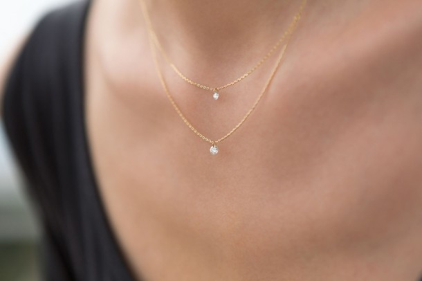 Inseparable Nude Diamond Necklace - Model 2